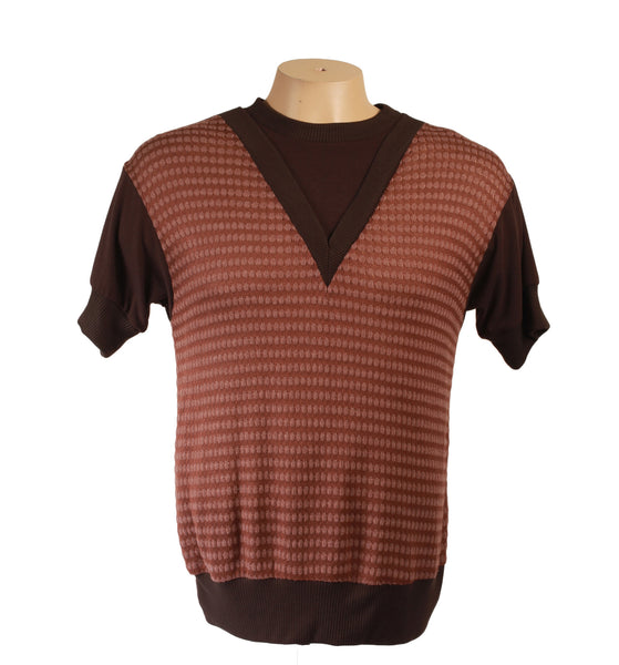 Sci-Fi Tee Brown V-Neck