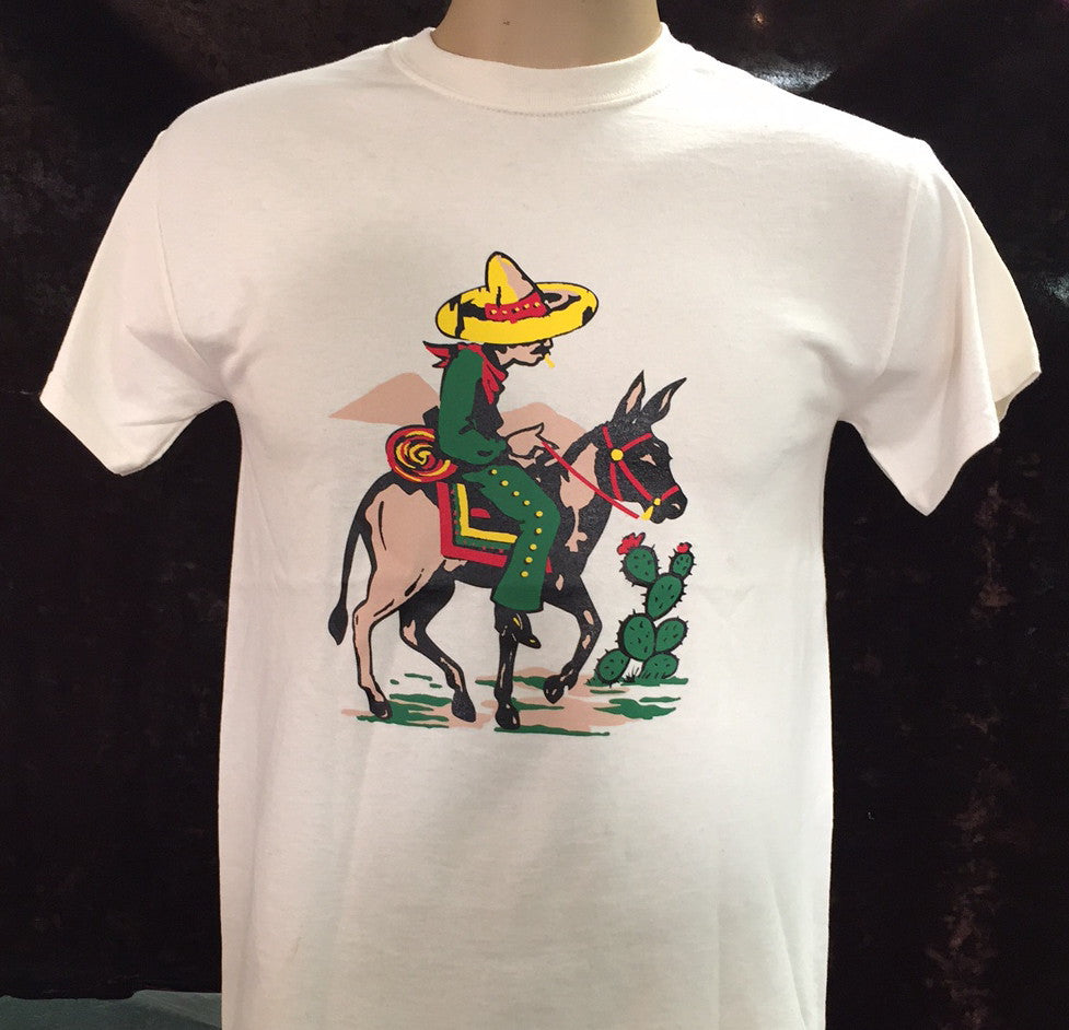 Travelling Burro Mens T-Shirt
