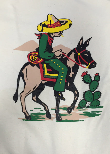 Travelling Burro Ladies T-Shirt