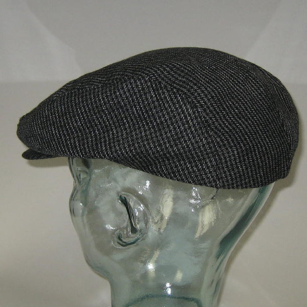 Cap Ivy League Charcoal Houndstooth