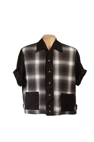 Mr Cool Mens Shirt Black Plaid