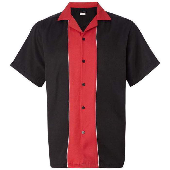 Cruisin Bowling Shirt Black Red
