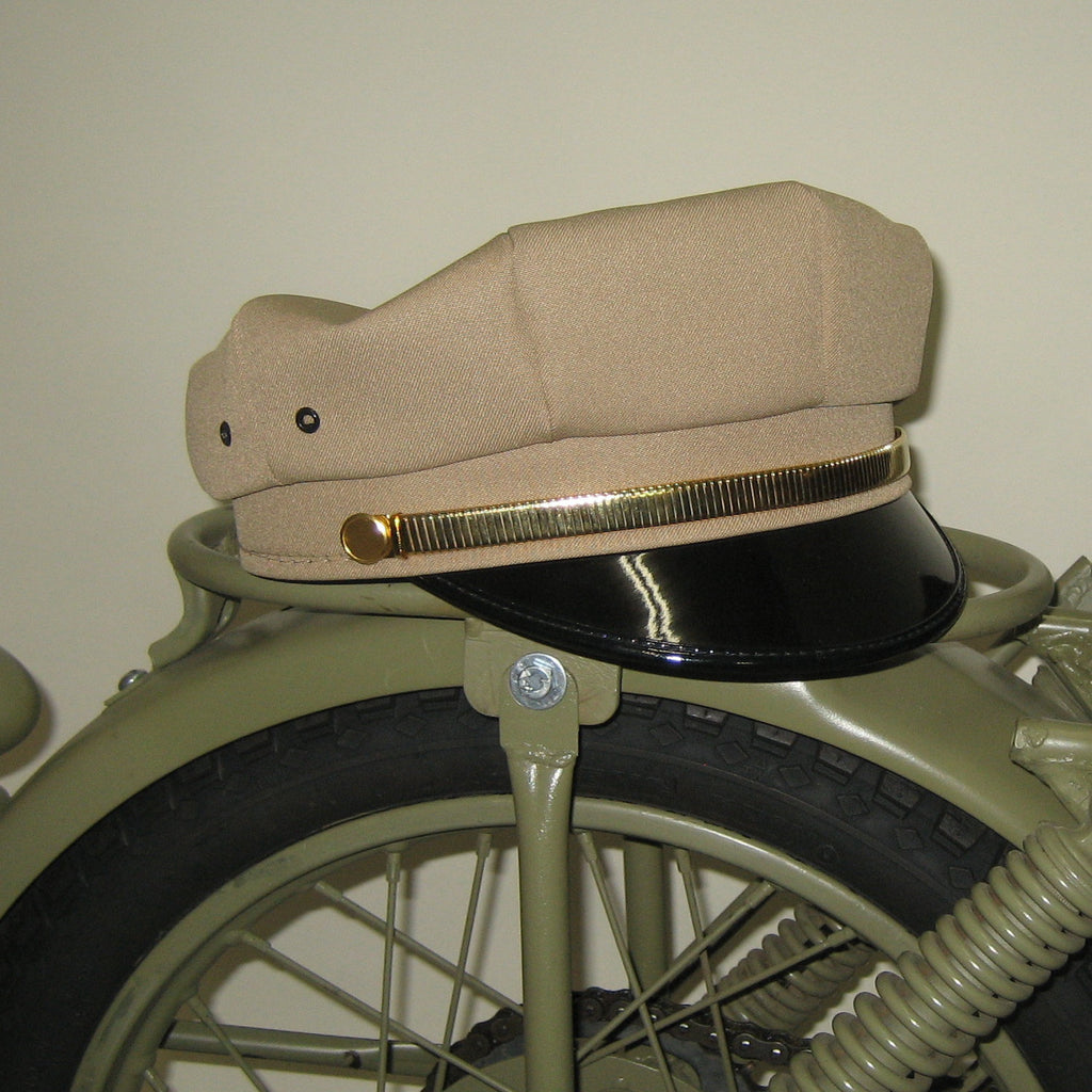 Motorcycle Cap Expansion Gold Strap