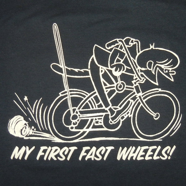 First Fast Wheels Mens Black Tshirt