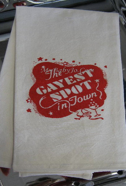 Gayest Spot in Town Flour Sack Towel