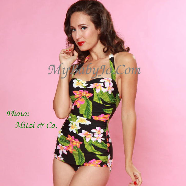 One Piece Classic Sheath Hawaiian Paradise Swimsuit