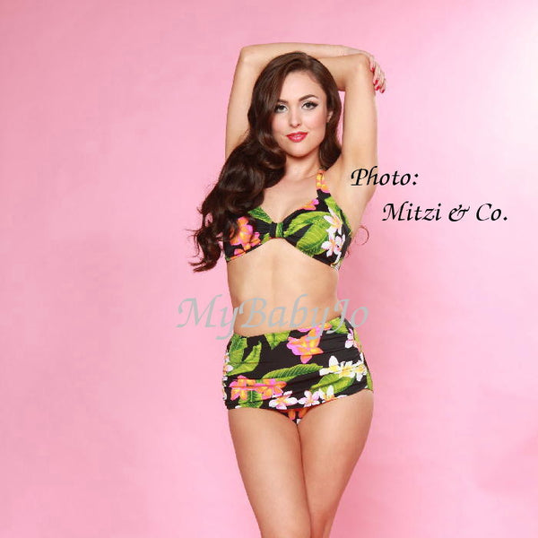 Two Piece Classic Sheath Hawaiian Paradise Swimsuit