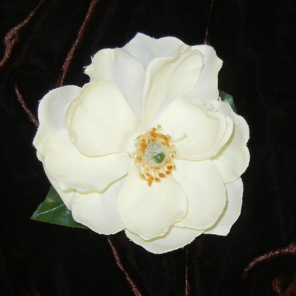Magnolia Cream Color Floral Barrette