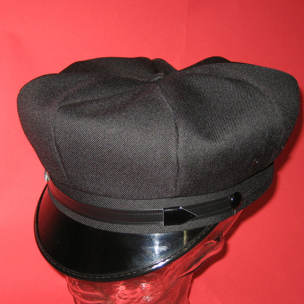 Motorcycle Cap Black with Black Brim