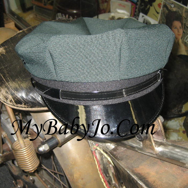 Motorcycle Cap Green with Black Brim