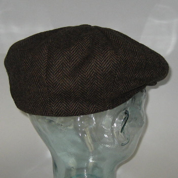 Newsboy Cap Brown Houndstooth