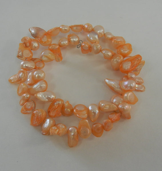 Cultured Pearl Blushed Orange Bracelet