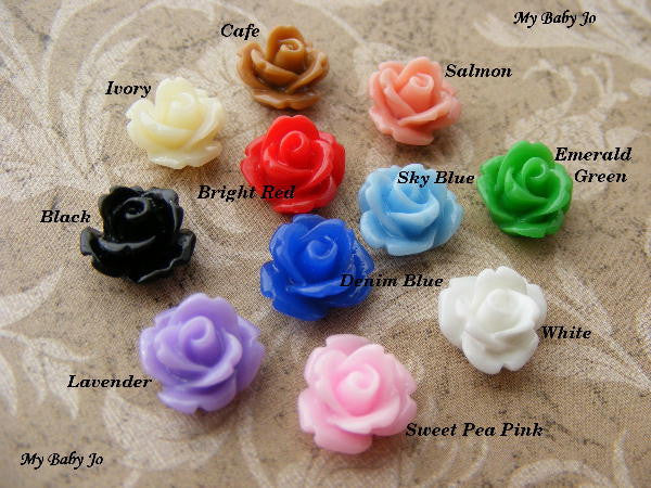 Petite Rose Earrings
