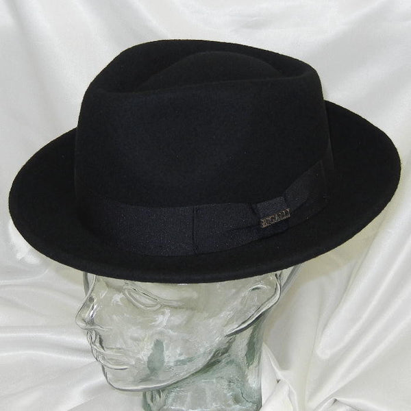 Quick Step Wool Black Felt Hat
