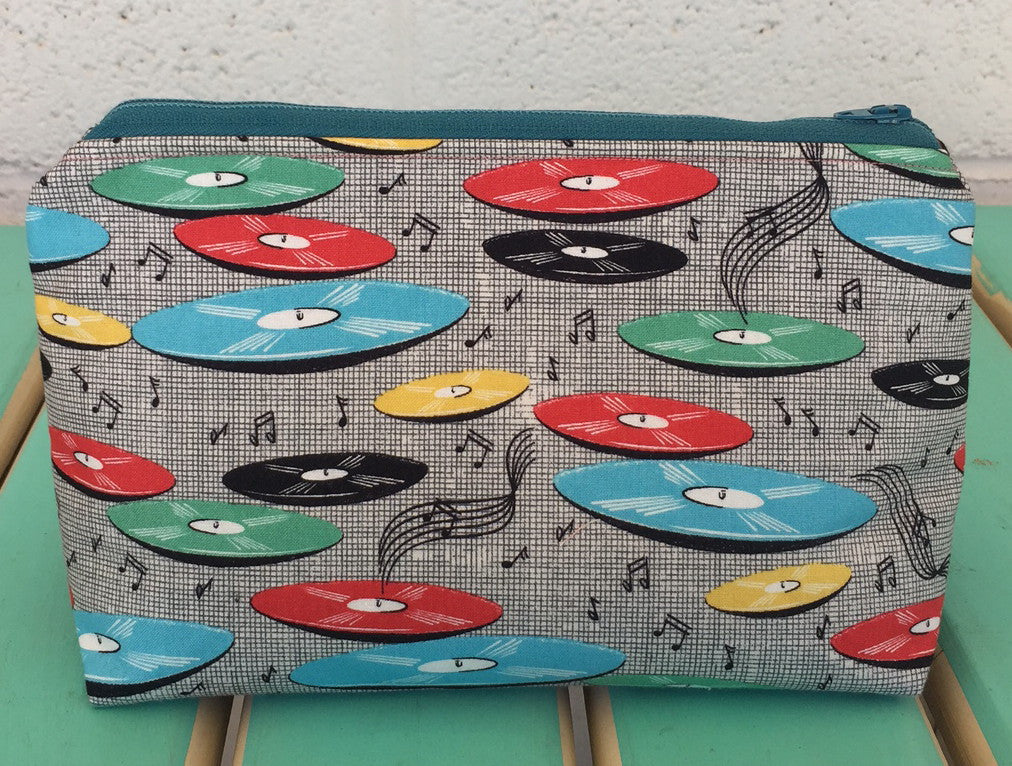 Record Hop Makeup Pouch