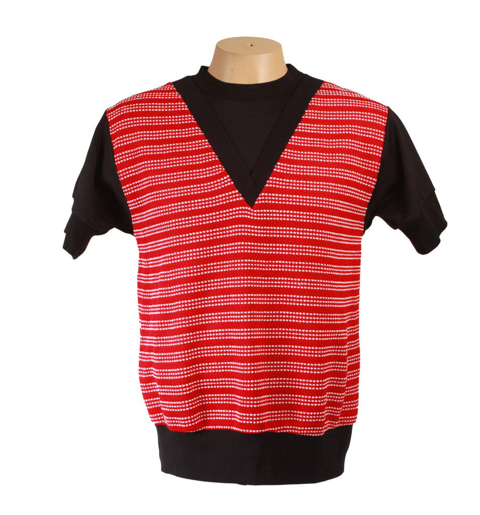 Sci-Fi Tee Red Spec V-Neck