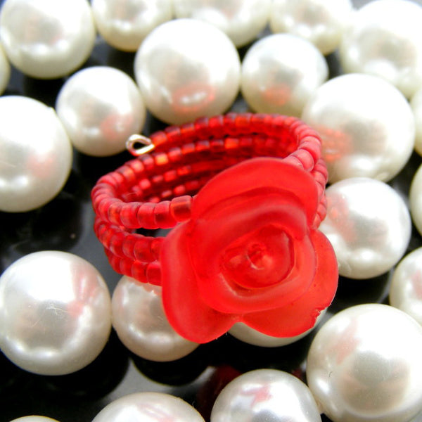 Frosted Rose Ring