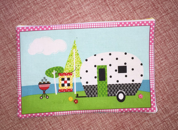 Polka Dot Camper Trailer Trivet Pot Holder