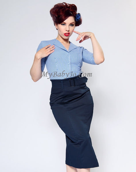 Vogue Navy Skirt Clearance