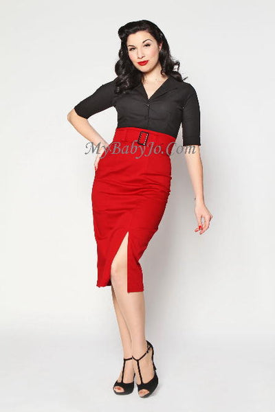 Vogue Red Pencil Skirt Clearance