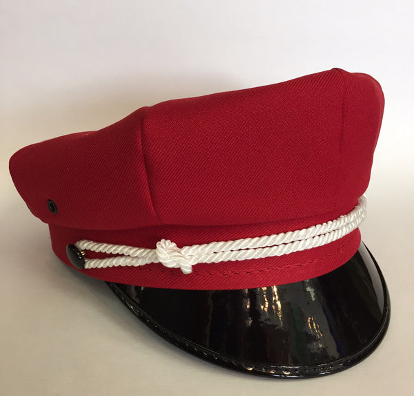 Motorcycle Cap Red with Black Brim