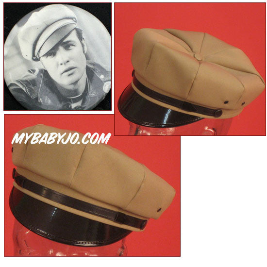 Motorcycle Cap Camel with Black Brim