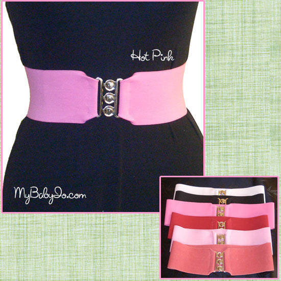 Cinch Belt Hot Pink