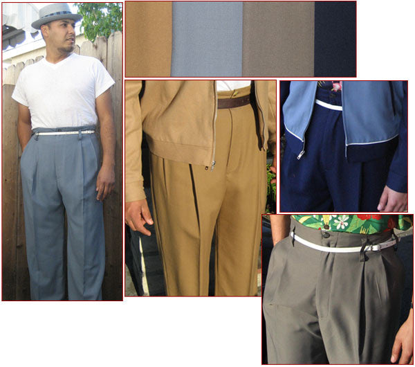 Double Pleated Brown Trouser