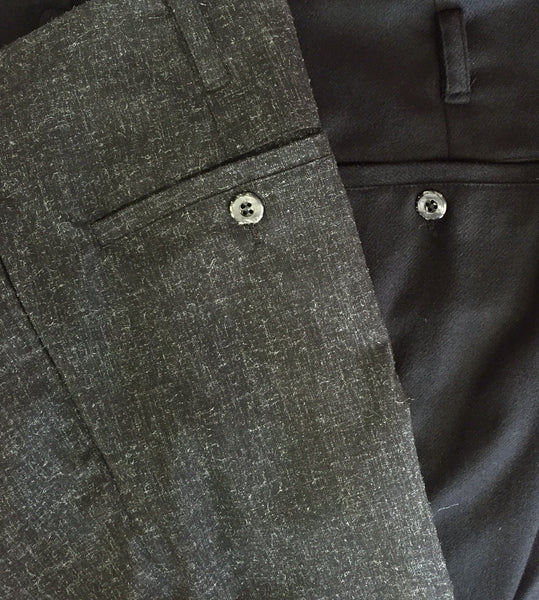 Double Pleated Black Trouser