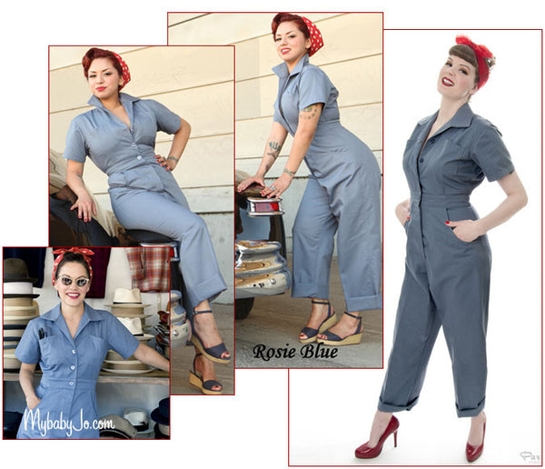 Riveting Jumpsuit Rosie Blue