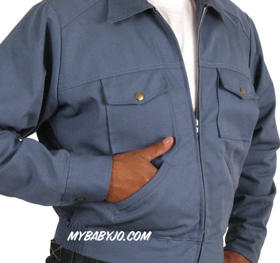 Service Station Jacket Postman Blue