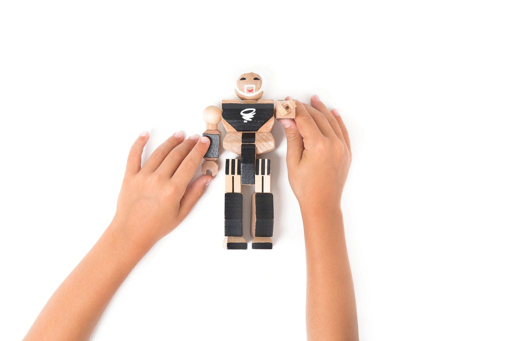 Playhard Heroes Wooden Action Figure this #7 Hemlock