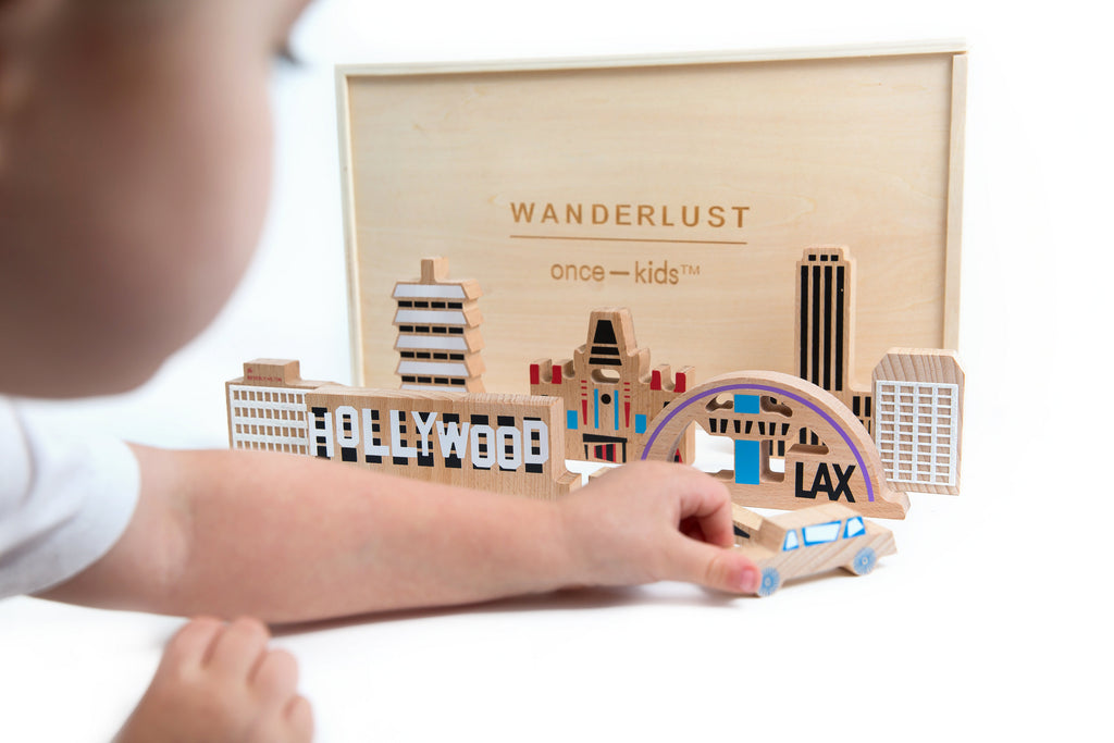 Wanderlust Hollywood wood and felt block set