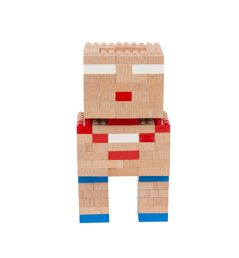 Eco-bricks™ wooden robot build set