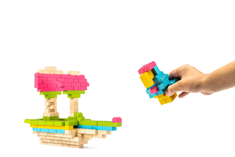 ecobricks color 206 pcs colored brick build sets