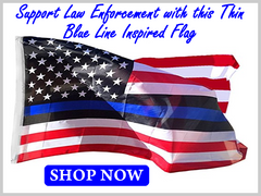 Thin Blue Line Inspired Flag