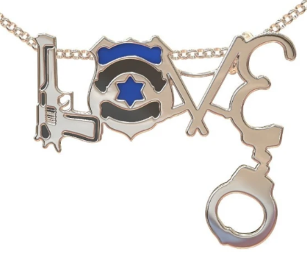 New 100/% 0.925 Sterling Silver Handcuff Law Enforcement Charm Pendant Necklace