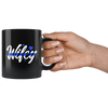 Hubby and Wifey Thin Blue Line Police Combo Couples Mugs