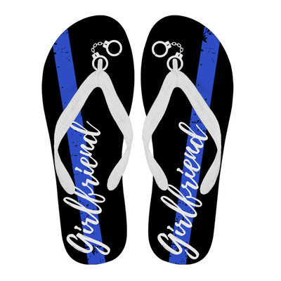 Thin Blue Line Girlfriend Flip Flops