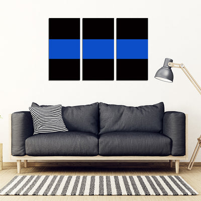Thin Blue Line - 5 Piece Framed Canvas