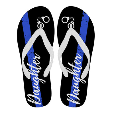 Thin Blue Line Daughter Flip Flops