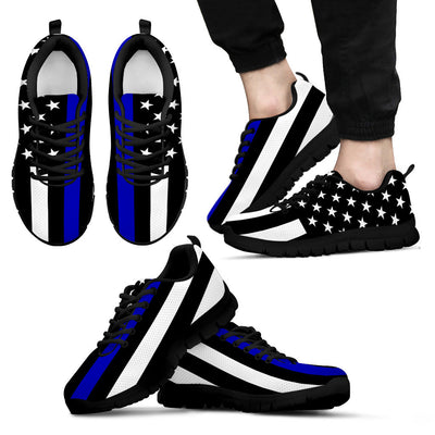 Thin Blue Line American Flag Men's Sneakers