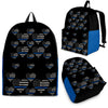 Thin Blue Line Flag Hearts Backpack