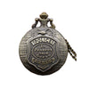 Vintage Embossed 'To Protect and Serve' Police Pocket Watch