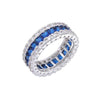 Stunning 10Kt White Gold Filled Diamond Simulated Sapphire Ring