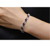 Gorgeous White Gold Plated Austrian Royal Blue Crystal Bracelet