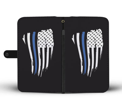 Thin Blue Line American Flag Phone Case Wallet