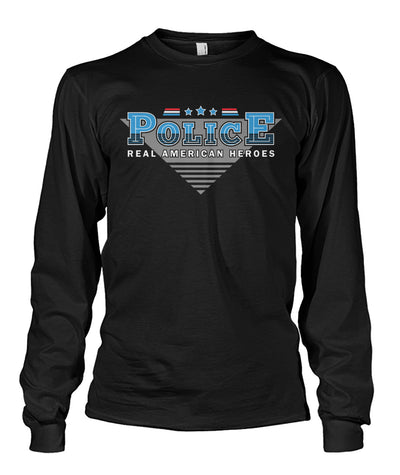 Police Real American Heroes Shirts and Hoodies