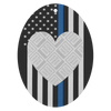 Thin Blue Line USA Heart Personalized Photo Frame Air Freshener - 3 Pack