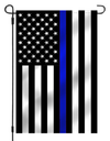 Thin Blue Line American Garden Flag 12.5 x 18 inches with Garden Pole